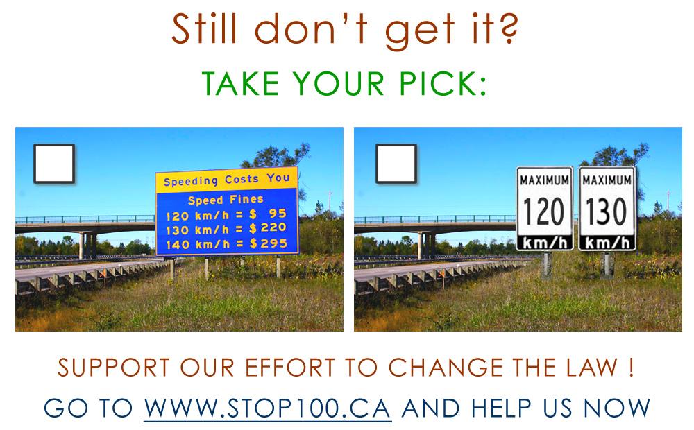 Increase Ontario Series Highway Speed Limit - Us highway speed limits map